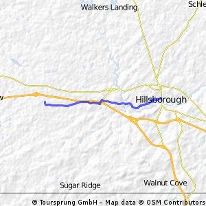 Buckhorn to Hillsborough Police Station
