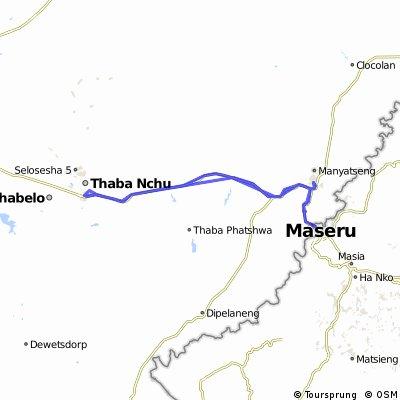 Maseru (Lesotho) - Ladybrand - Thaba Nchu (South Africa)