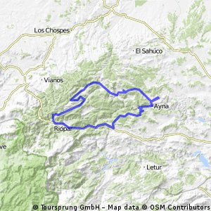 Sarguilla-Ayna-Casas de pinilla-Riopar-Paterna del Madera-Bogarra-Sarguilla