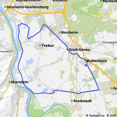 Schöne Route am Rhein vorbei.
