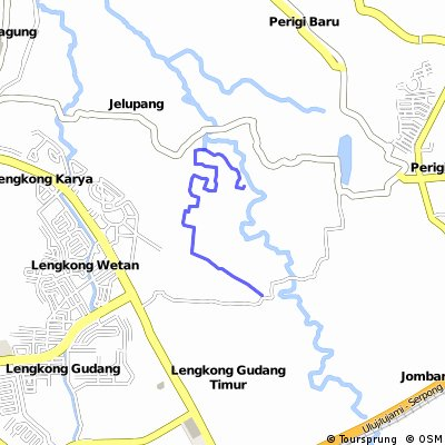 Cycling routes and bike maps in and around South Tangerang Bikemap
