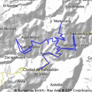 Pahuatlán - Paciotla - Tlalcruz - Zoyatla - Montellano -San Pablito