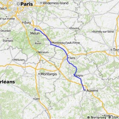 Melun - Auxerre