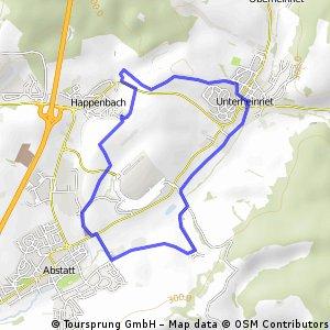 Laufrunde_Heinriet_Vohenlohe_Abstatt_Happenbach