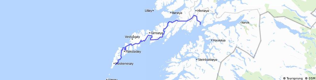 Lofoten Insomnia Race Å-Lødingen   Bikemap - Your bike routes
