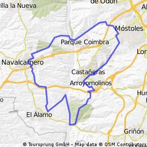 Arroyomolinos-El Alamo-Navalcarnero-Móstoles 20.01.13