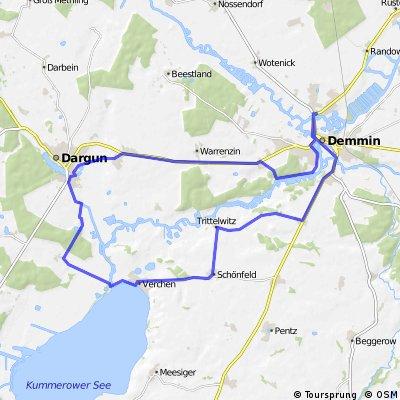 Demmin - Kummerower See - Dargun -Demmin Tagesrundtour