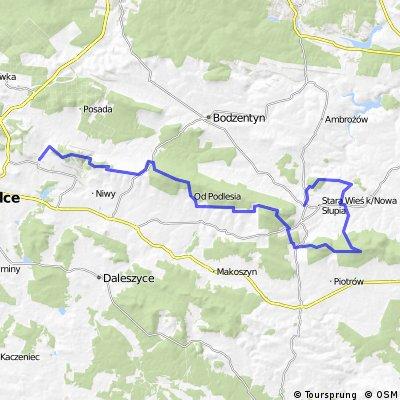 trasa 4 Ogólnopolski Majowy Rajd Świętokrzyski