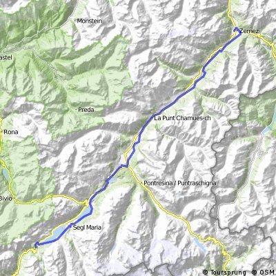 Innradweg © Meister-Jango Tag 1 Maloja nach Zernez 54,74 km