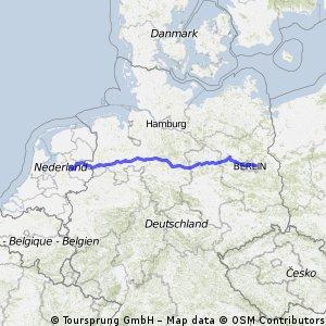 route Berlijn naar Laag Zuthem
