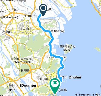 民眾鎮→111省道→珠海情侶南路68k