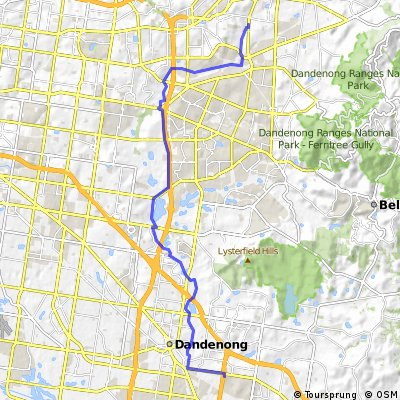 Commute from Croydon South to Mitre10
