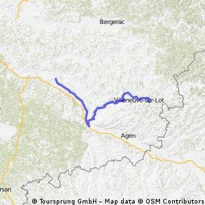 dag 5 Meilhan - Saint Sylvestre 107 km