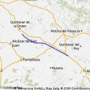 06 Camino del sureste a Santiago: 6ª etapa La Roda a El Toboso (Albacete)