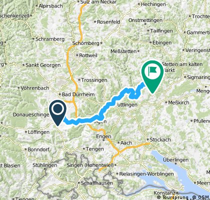 Donaueschingen -  camping wagenburg, Beuron 70km