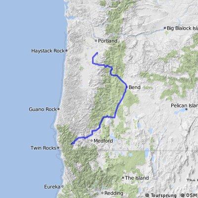 Molalla To Rogue River - Siskiyou NF