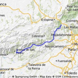 Etappe 11 Ramacastanas - El Escorial
