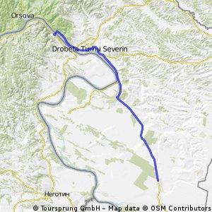 Portile de Fier - Rosiori 70km