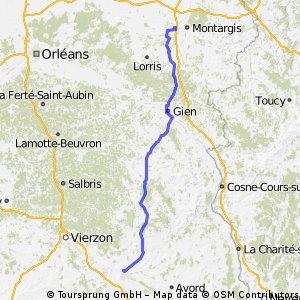 Montargis to Bourges