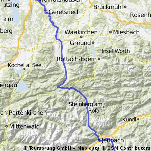Tauern-Gerlos-Achensee-Isartal Tag 4