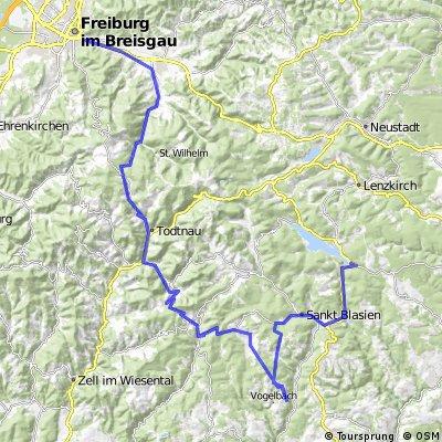 Freiburg-Happingen-Seebrugg-Freiburg