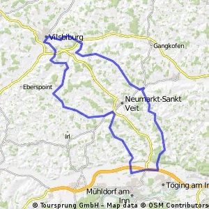 Hügelige Mühldorf-Runde