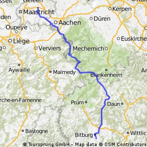 Etappe 1 Klimmen - Bitburg 172,6 km