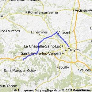 12/ Troyes - Stawy po L za Villemaur sur Vanne