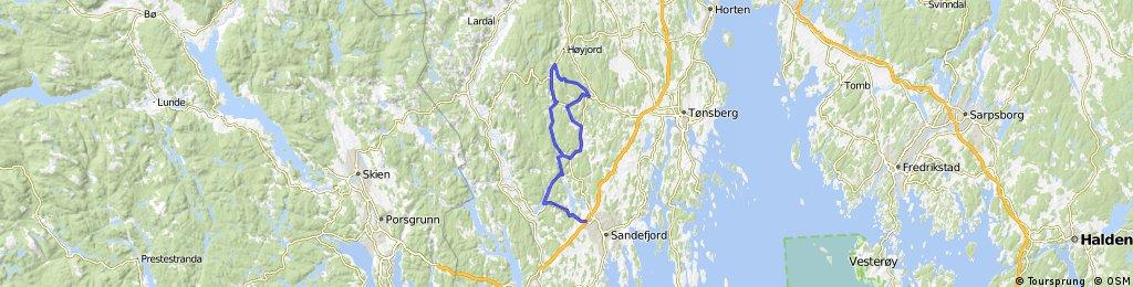 Sandefjord tour 69 km
