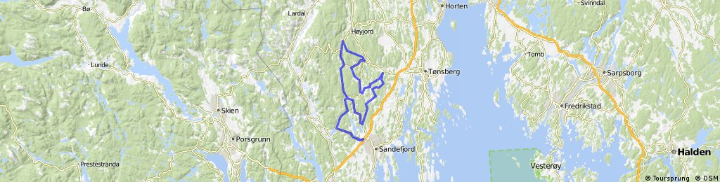 Sandefjord tour 97 km