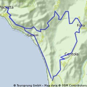 9. Etappe: Palinuro - Foria - Pisciotta - Palinuro