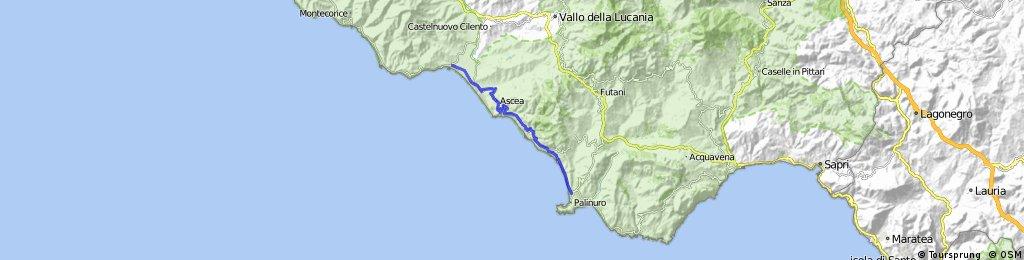 8. Etappe: Marina di Casal Velino - Pisciotta - Palinuro