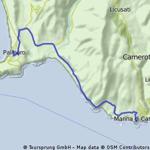 10. Etappe: Palinuro - Marina di Camerota