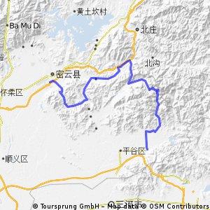 Miyun to Pinggu 100km