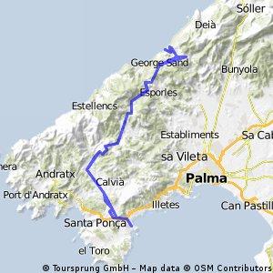 Palmanova - Pt d Valldemossa (via Galilea, Valldemossa, Galilea)