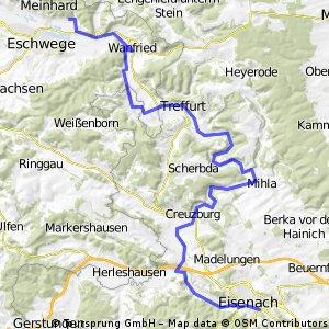 Etappe 3a: Schwebda (Eschwege) - Eisenach