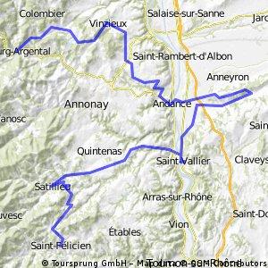 St Félicien / Bourg-Argental 99km