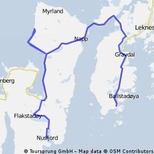 Nusford 46 km (Ballstad-Vikten-Nusfjord)