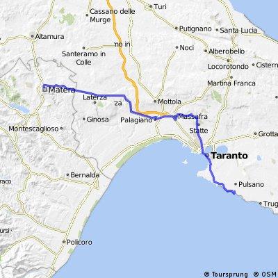 Tre Mari: quinta tappa:Matera-Marina di Pulsano