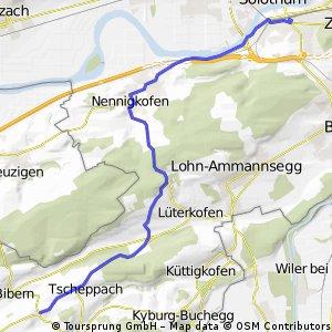 Solothurn - Hessigkofen Via Nennigkofen