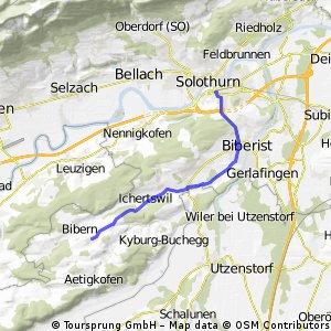 Solothurn - Hessigkofen via Biberist