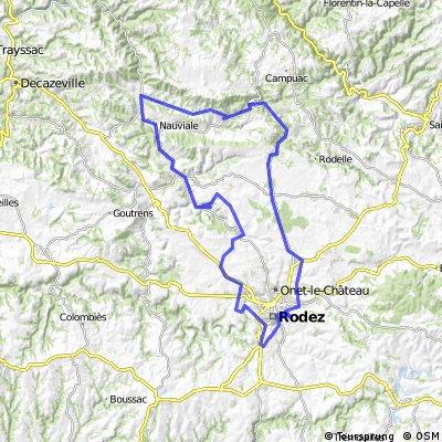 Rodez plateau Villecomtal-St Cyprien Dourdou