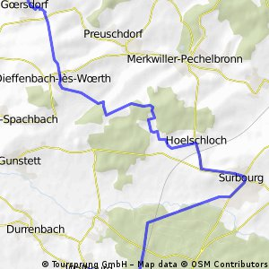 Liebfrauenberg/Goersdorf-Dieffenbach-Surbourg-Walbourg