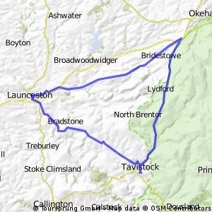 Tavi - Launceston - Sourton - Tavi 42 miles :-)