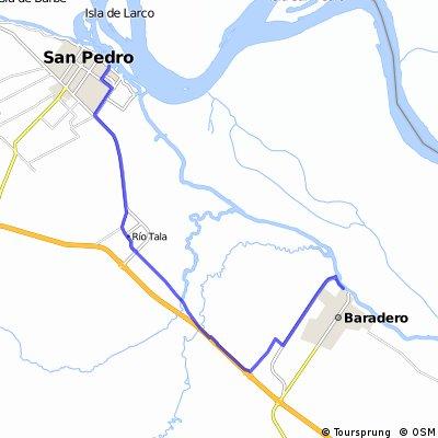 Baradero san pedro sin autopista