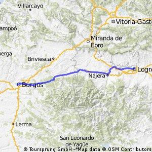 1-2 Logroño-Burgos Camino Santiago