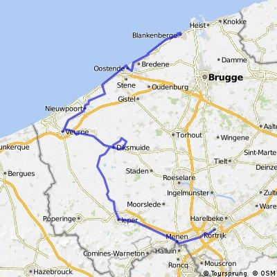 Blankenberge to Kortrijk / 2 days