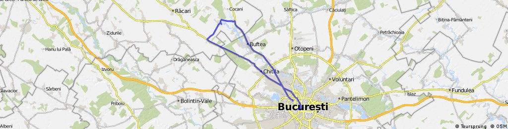 20.04.2013: Traseu Bucuresti - Ciocanesti - Bucuresti