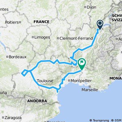 Genève-Moissac-Narbonne-Orange