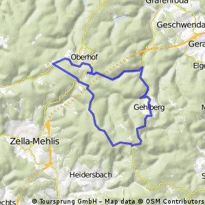 Schmücke - Oberhof - Schmücke